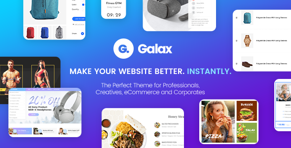Galax – Creative eCommerce Multi-Purpose WordPress Theme