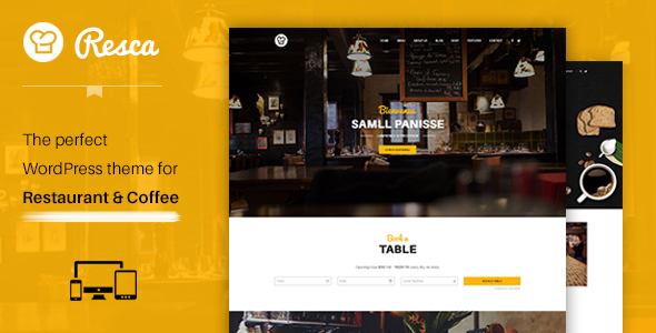 WordPress Restaurant Theme – Resca