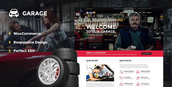 Automotive WordPress Theme – Garage