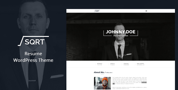 WordPress Resume Theme – Squareroot