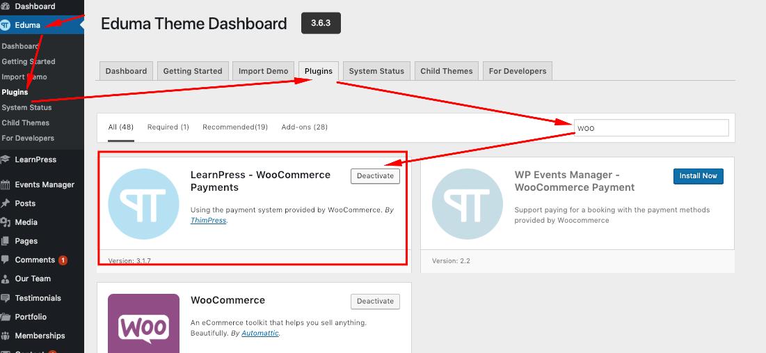 WooCommerce add-on for LearnPress